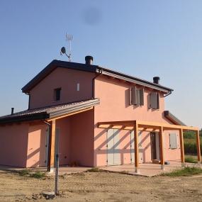 Casa in legno finita